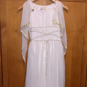 Egyptian Cleopatra White Gown Costume L (14) Girls